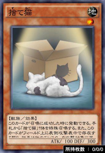 捨て猫のカード画像