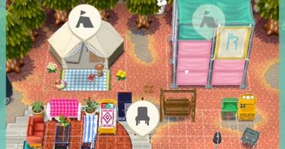 キャンプ場ではオブジェ、家具を置ける. ポケ森、