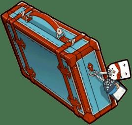 清めの旅行鞄