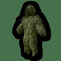 PUBGスマホ、ギリースーツ緑