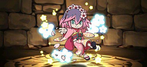 パズドラ_桜ふぶき姫