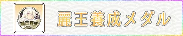 麗王養成メダル_入手方法