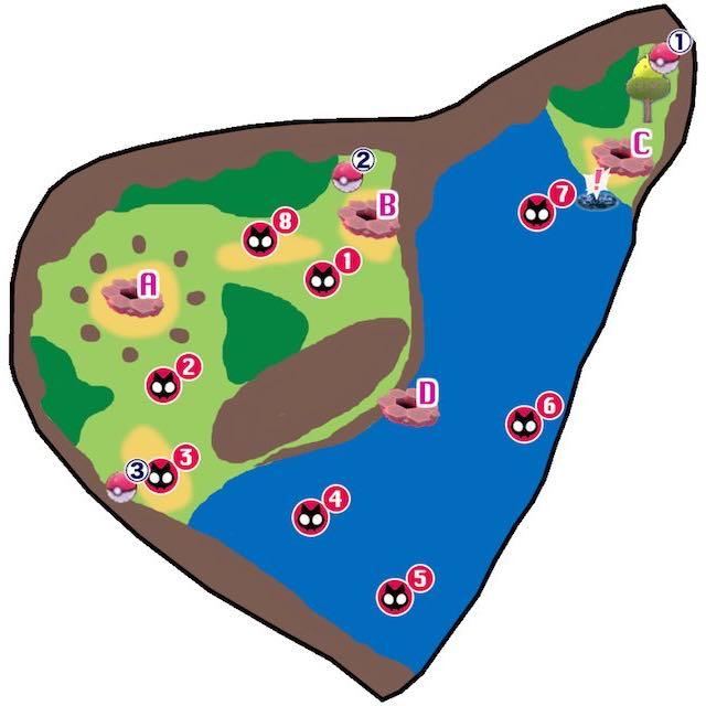 ポケモン剣盾_げきりんの湖_個別マップ