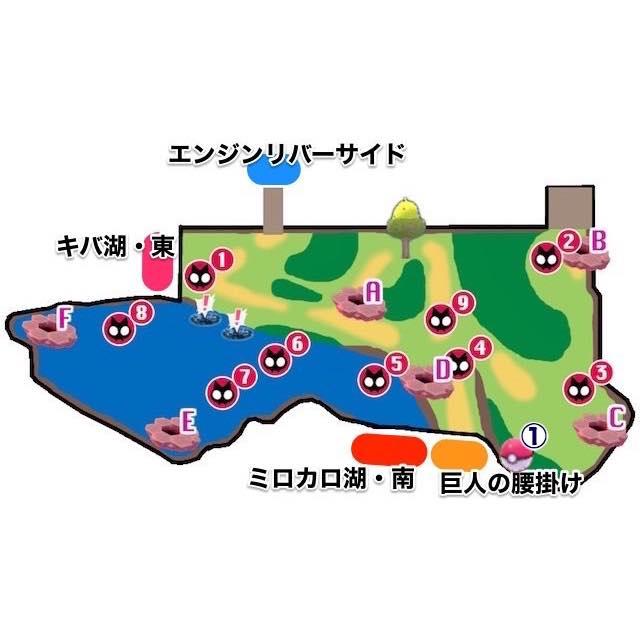 ポケモン剣盾_ミロカロ湖・北_エリア移動