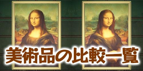 美術品の偽物と本物の違い・比較一覧