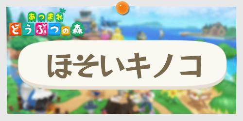あつ森_ほそいキノコ_banner