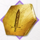 エクサガ_金の剣柄